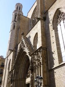 The classic gothic style Santa Maria del Mar