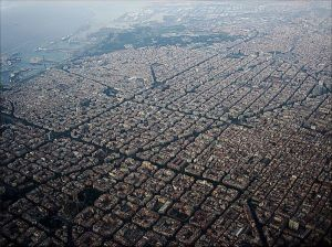 Eixample from the Air