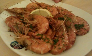 Finger lickin' good prawns!
