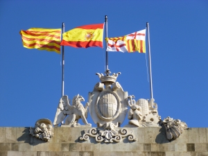 The Spanish, Catalan & St George's Flags