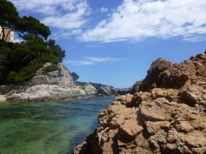 One of the rocky mini-coves