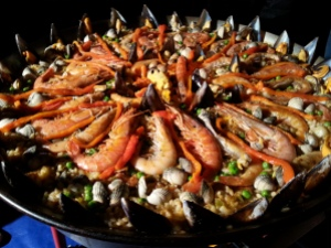 The finished Paella in all its glory